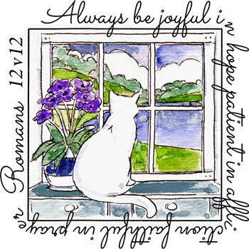 Art Impressions BE JOYFUL WINDOW To The World Clear Stamp 4877*