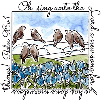 Art Impressions OH SING WINDOW To The World Clear Stamp 4878*