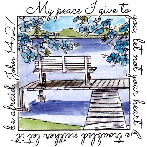 Art Impressions PEACE WINDOW To The World Cling Rubber Stamp M4881 Preview Image