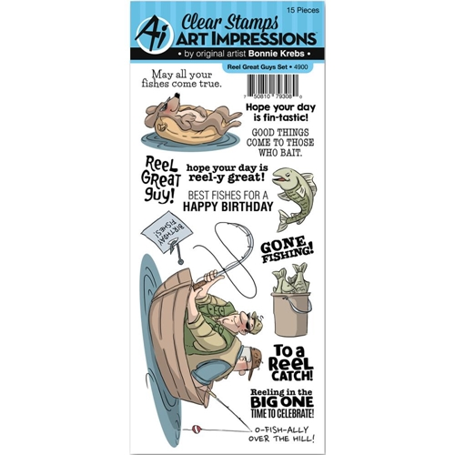 Art Impressions REEL GREAT GUYS Clear Stamp Set 4900 Preview Image