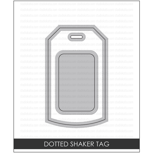 Studio Katia DOTTED SHAKER TAG Creative Dies STK007 Preview Image