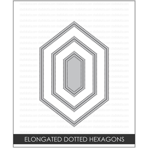 Studio Katia ELONGATED DOTTED HEXAGONS Creative Dies STK017 Preview Image