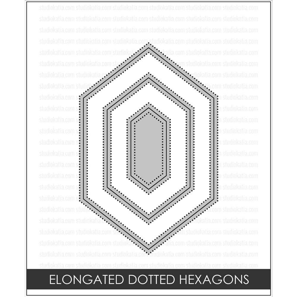 Studio Katia ELONGATED DOTTED HEXAGONS Creative Dies STK017 zoom image