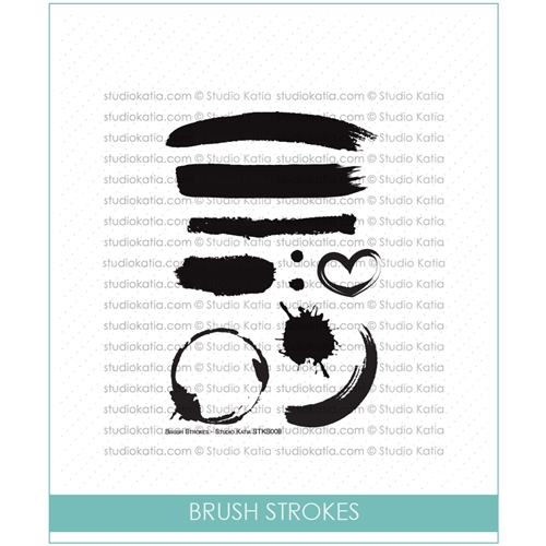 Studio Katia BRUSH STROKES Clear Stamps STKS008 Preview Image