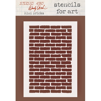 Wendy Vecchi Stencils For Art MINI BRICKS Studio 490 WVSFA053