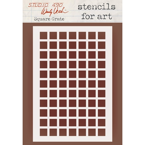 Wendy Vecchi Stencils For Art SQUARE GRATE Studio 490 WVSFA051 Preview Image