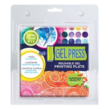 Gel Press 6 x 6 REUSABLE GEL PRINTING PLATE 10800