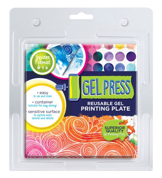 Gel Press 6 x 6 REUSABLE GEL PRINTING PLATE 10800 zoom image