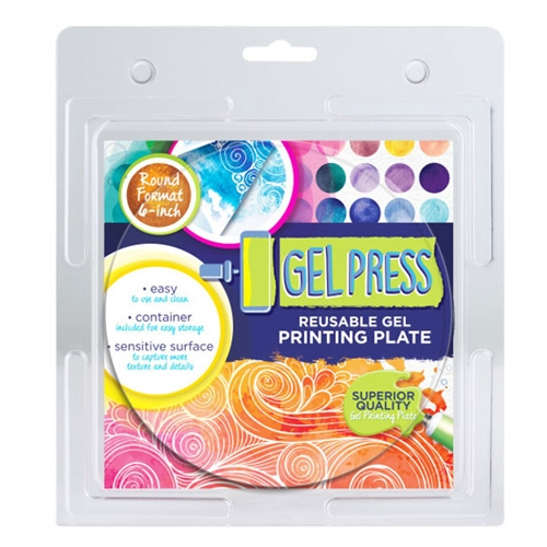 Gel Press 6 x 6 ROUND REUSABLE GEL PRINTING PLATE 10806 Preview Image