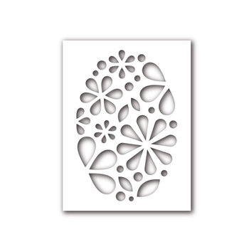 Simon Says Stamp Stencil OVAL OF FLOWERS SSST121391