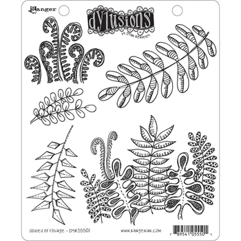 Dyan Reaveley OODLES OF FOLIAGE Cling Stamp Set Dylusions DYR55501