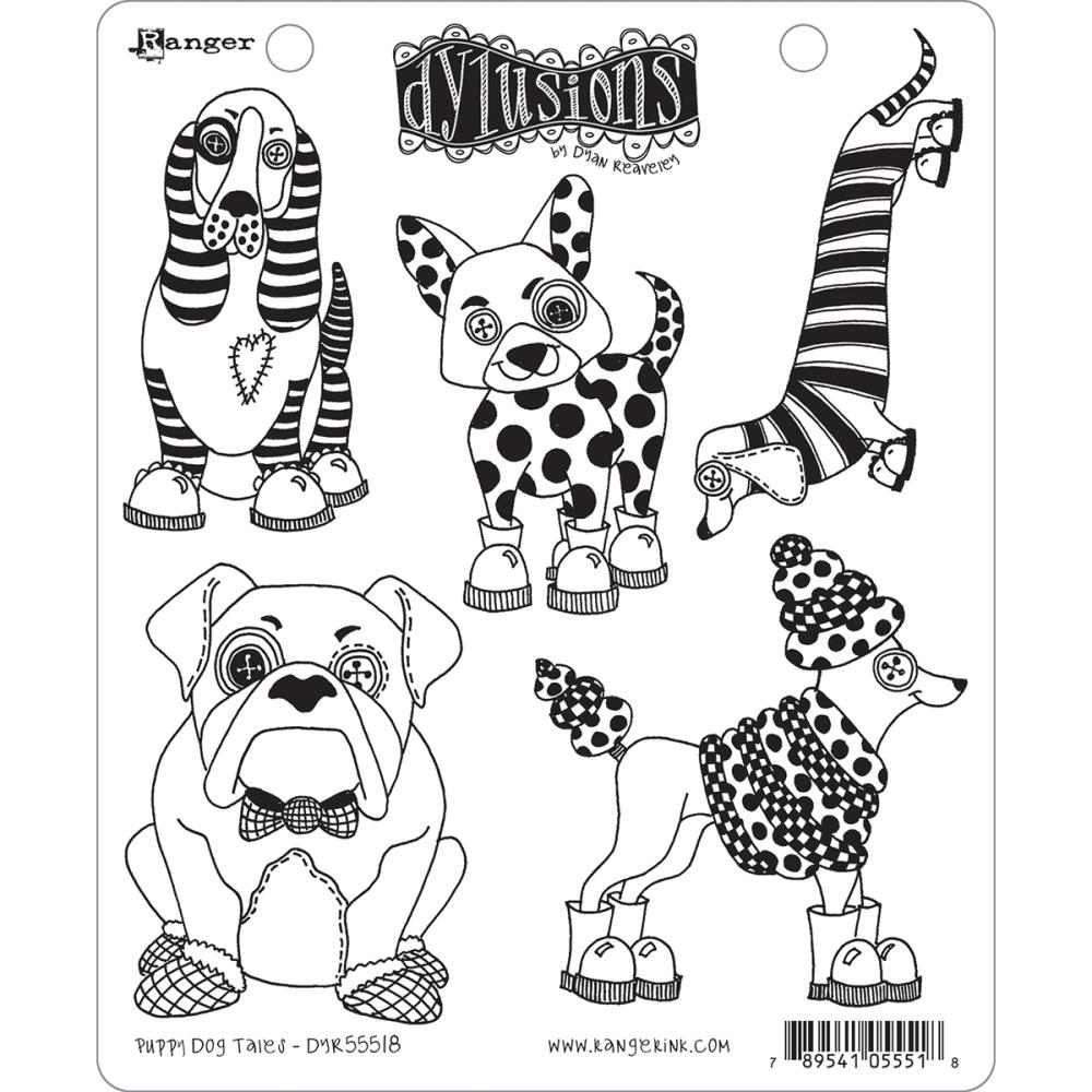 Dyan Reaveley PUPPY DOG TALES Cling Stamp Set Dylusions DYR55518 zoom image