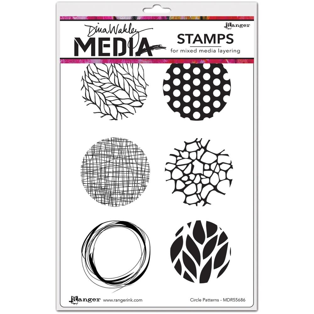 Dina Wakley CIRCLE PATTERNS Media Cling Rubber Stamp MDR55686* zoom image
