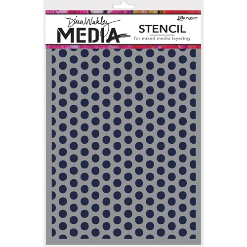 Dina Wakley SPACED DOTS Media Stencil MDS52432 Preview Image