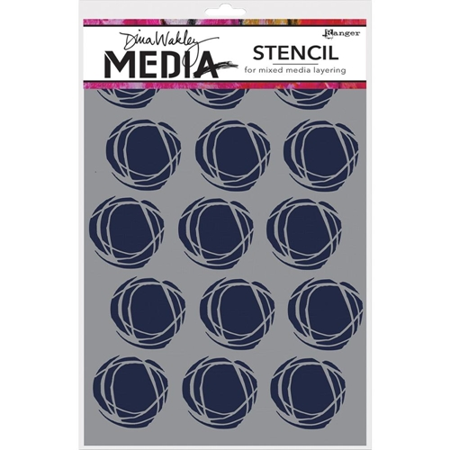 Dina Wakley FRACTURED CIRCLES Media Stencil MDS52425 Preview Image