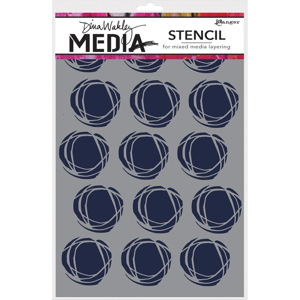 Dina Wakley FRACTURED CIRCLES Media Stencil MDS52425 zoom image