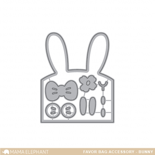 Mama Elephant FAVOR BAG ACCESSORY BUNNY Creative Cuts Steel Dies Preview Image