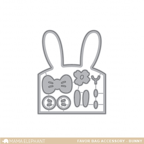 Mama Elephant FAVOR BAG ACCESSORY BUNNY Creative Cuts Steel Dies zoom image