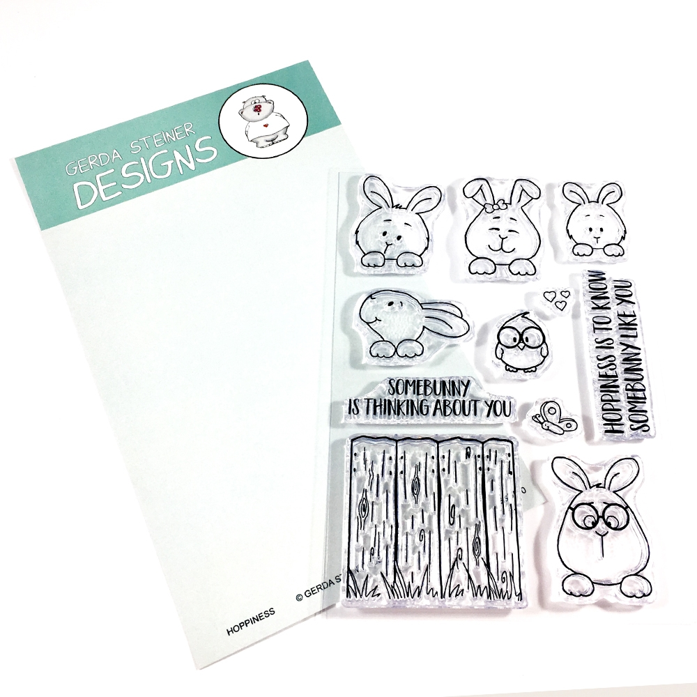 Gerda Steiner Designs HOPPINESS Clear Stamp Set GSD570 zoom image