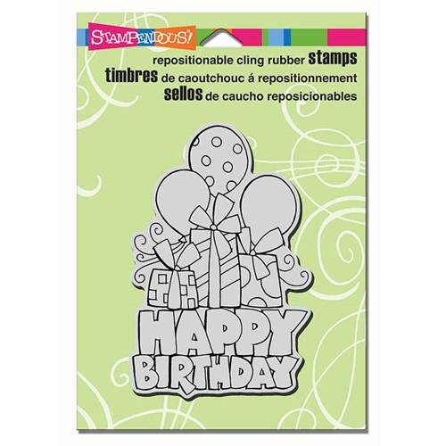 Stampendous Cling Stamp CHUNKY BIRTHDAY Rubber UM CRP298 Preview Image
