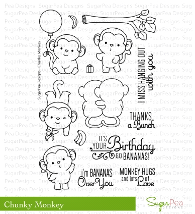 SugarPea Designs CHUNKY MONKEY Clear Stamp Set SPD00186 Preview Image
