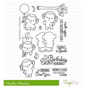 SugarPea Designs CHUNKY MONKEY Clear Stamp Set SPD00186