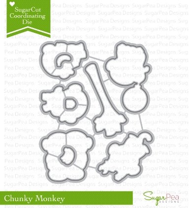 SugarPea Designs CHUNKY MONKEY SugarCuts Dies SPD00187 Preview Image