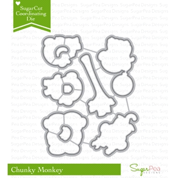 SugarPea Designs CHUNKY MONKEY SugarCuts Dies SPD00187
