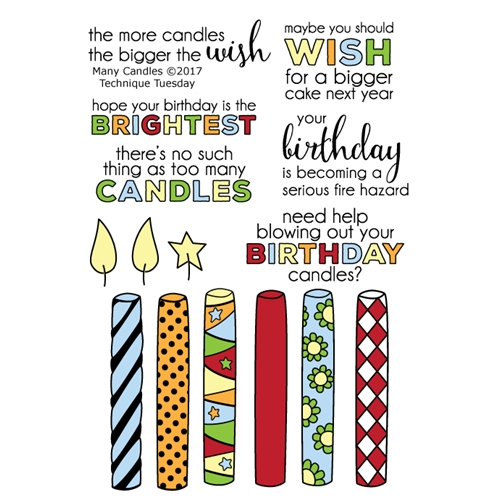 Technique Tuesday MANY CANDLES Clear Stamps 02425 Preview Image