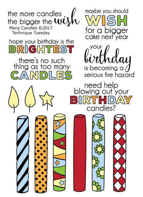 Technique Tuesday MANY CANDLES Clear Stamps 02425 zoom image