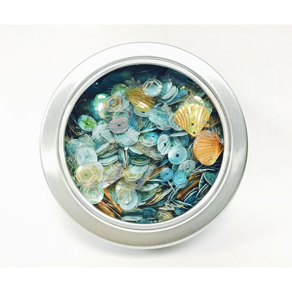 28 Lilac Lane SEASIDE HOLIDAY Sequin Tin LL315 zoom image