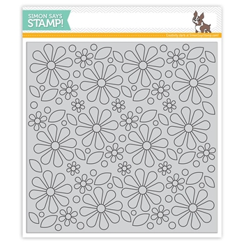 Simon Says Cling Rubber Stamp MOD FLOWER BACKGROUND SSS101702