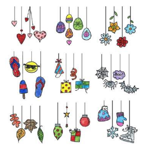 Inky Antics DANGLING DOODLES Clear Stamp Set 11355SC Preview Image