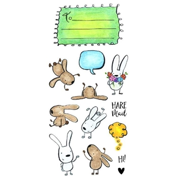 Inky Antics HARE MAIL Clear Stamp Set 11357LC