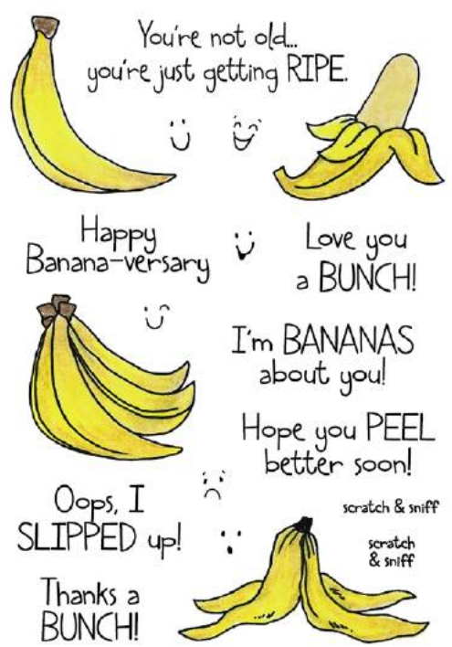 Inky Antics BANANA Clear Stamp Set 11360MC zoom image