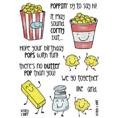 Inky Antics POPCORN Clear Stamp Set 11365MC Preview Image