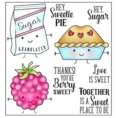 Darcie's SWEETIE PIE Clear Polymer Stamp Set POL342 Preview Image