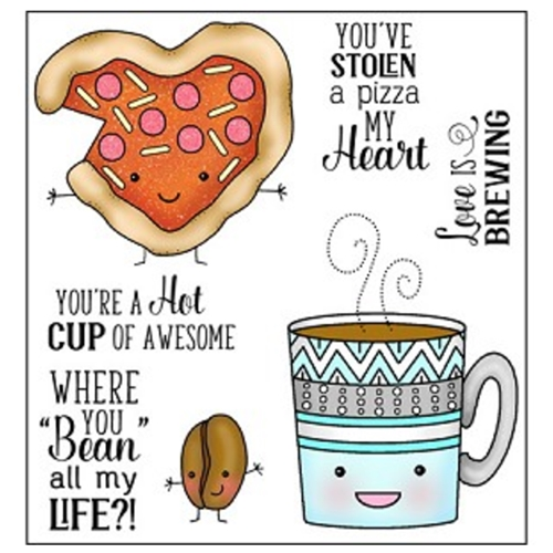Darcie's PIZZA MY HEART Clear Polymer Stamp Set POL343 Preview Image