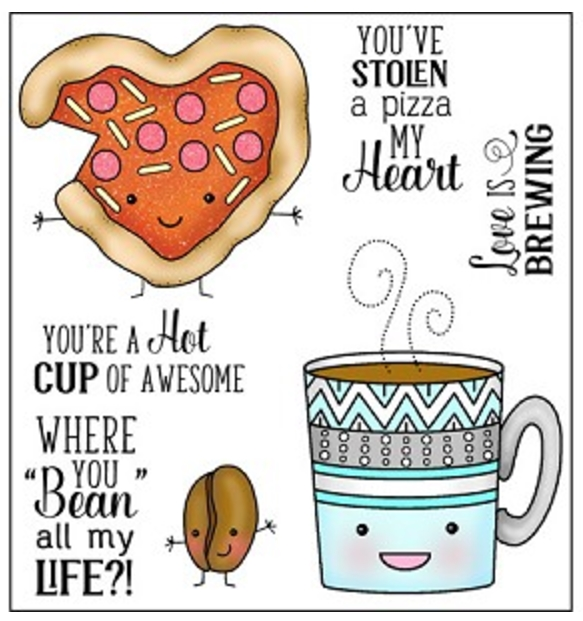 Darcie's PIZZA MY HEART Clear Polymer Stamp Set POL343 zoom image