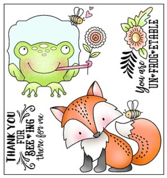 Darcie's BEEING THERE Clear Polymer Stamp Set POL346 zoom image