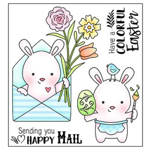 Darcie's HAPPY MAIL Clear Polymer Stamp Set POL349* Preview Image