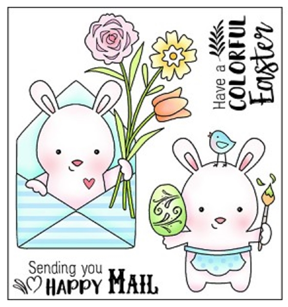 Darcie's HAPPY MAIL Clear Polymer Stamp Set POL349* zoom image