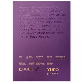 Yupo WHITE MIXED MEDIA 5x7 144lb Paper Pad 33157