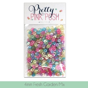 Pretty Pink Posh 4MM FRESH GARDEN MIX Cupped Sequins zoom image