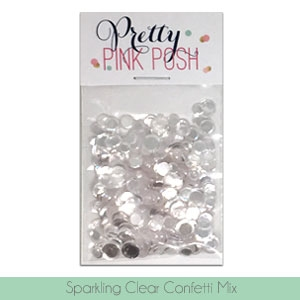 Pretty Pink Posh SPARKLING CLEAR CONFETTI MIX zoom image