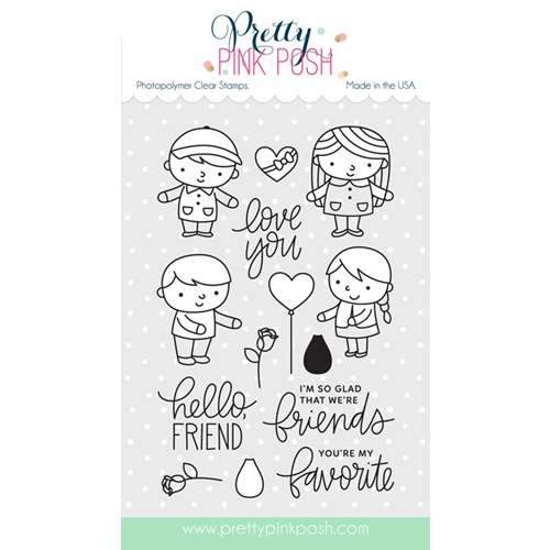 Pretty Pink Posh FRIENDS FOREVER Clear Stamp Set Preview Image