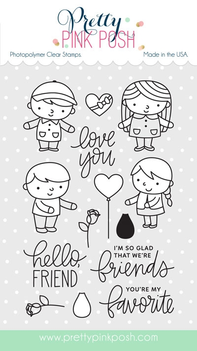 Pretty Pink Posh FRIENDS FOREVER Clear Stamp Set zoom image