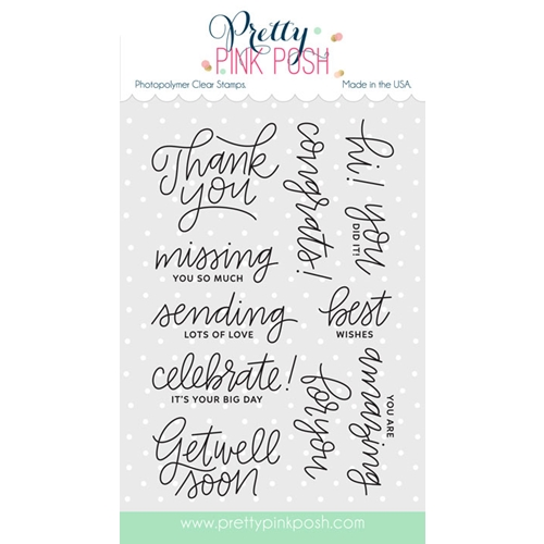 Pretty Pink Posh EVERYDAY GREETINGS Clear Stamp Set Preview Image