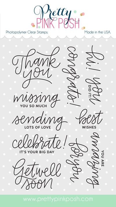 Pretty Pink Posh EVERYDAY GREETINGS Clear Stamp Set zoom image