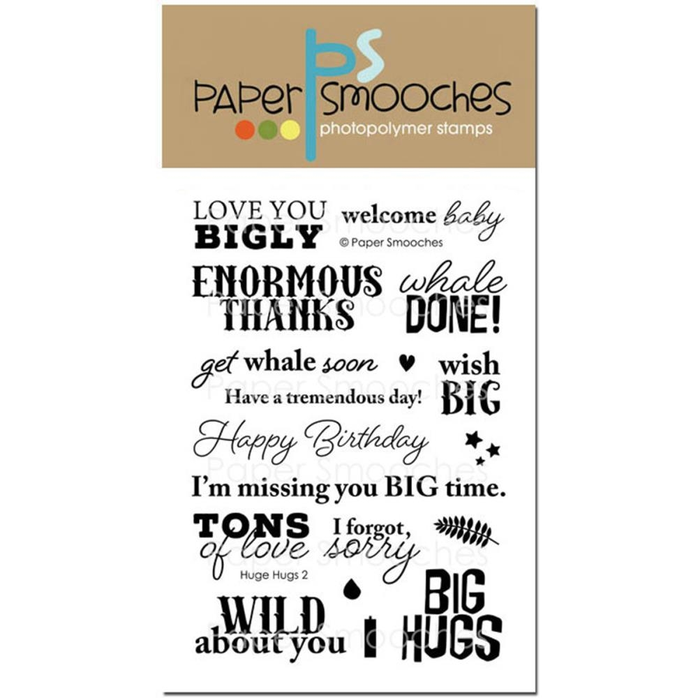 Paper Smooches HUGE HUGS 2 Clear Stamps M1S280 zoom image